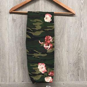 Camo Floral Soft Brushed Leggings